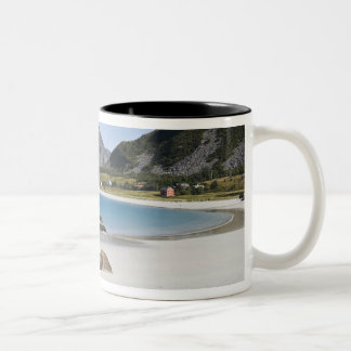 The beach at Ramberg is famous for its white Two-Tone Coffee Mug