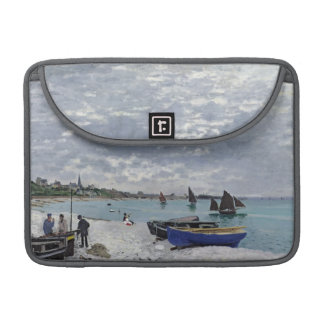 The Beach at Sainte-Adresse, 1867 Sleeves For MacBooks