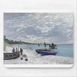 The Beach at Sainte-Adresse (1867) Mouse Pad