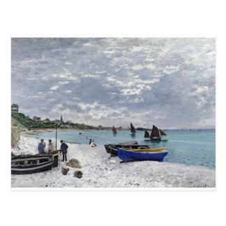 The Beach at Sainte-Adresse (1867) Postcard