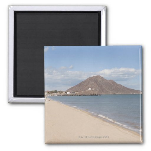 The beach at San Felipe on the Sea of Cortez 2 Inch Square Magnet