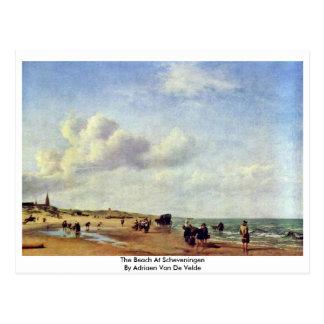 The Beach At Scheveningen By Adriaen Van De Velde Postcard
