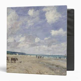 The Beach at Tourgeville 1893 Vinyl Binders