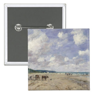 The Beach at Tourgeville 1893 Pin