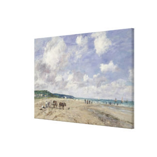 The Beach at Tourgeville 1893 Gallery Wrap Canvas