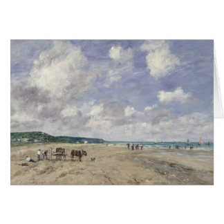 The Beach at Tourgeville 1893 Card