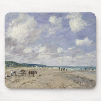 The Beach at Tourgeville, 1893 Mouse Pad