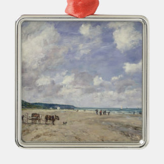 The Beach at Tourgeville 1893 Ornament