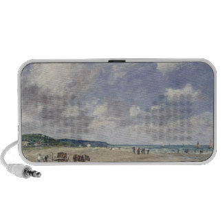 The Beach at Tourgeville 1893 Portable Speaker