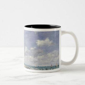 The Beach at Tourgeville, 1893 Two-Tone Coffee Mug