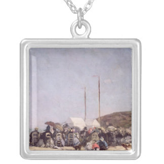 The Beach at Trouville, 1864 Custom Necklace