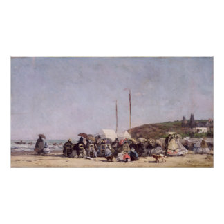 The Beach at Trouville, 1864 Poster