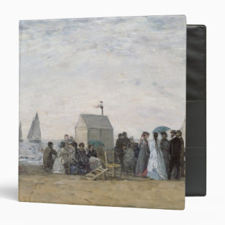 The Beach at Trouville, 1867 3 Ring Binder