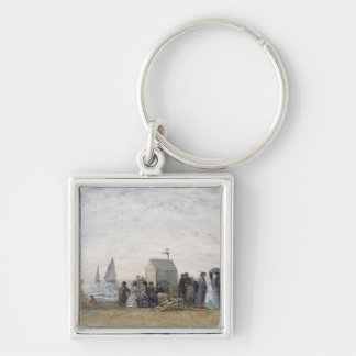 The Beach at Trouville, 1867 Keychain