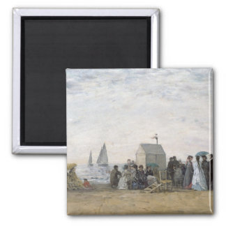 The Beach at Trouville, 1867 Magnet