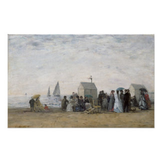 The Beach at Trouville, 1867 Poster