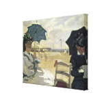 The Beach at Trouville, 1870 Stretched Canvas Prints