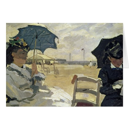 The Beach at Trouville, 1870 Card