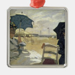 The Beach at Trouville, 1870 Christmas Ornament