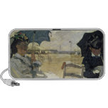 The Beach at Trouville, 1870 Mini Speakers