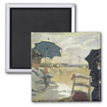 The Beach at Trouville, 1870 Refrigerator Magnets