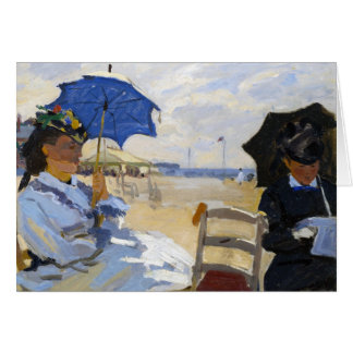 The Beach at Trouville Claude Monet Card