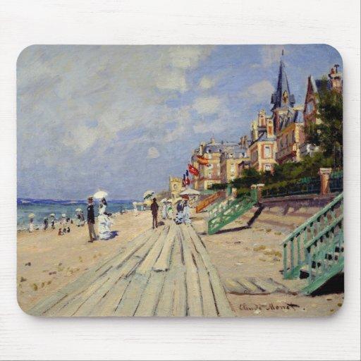 The Beach at Trouville - Claude Monet Mouse Pad