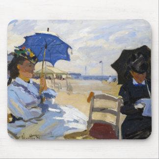 The Beach at Trouville Claude Monet Mouse Pad