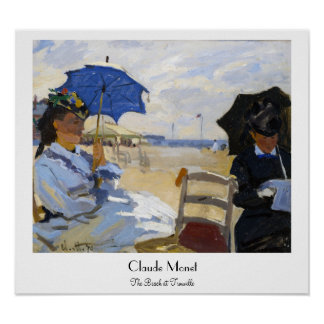 The Beach at Trouville Claude Monet Poster
