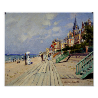 The Beach at Trouville - Claude Monet Poster