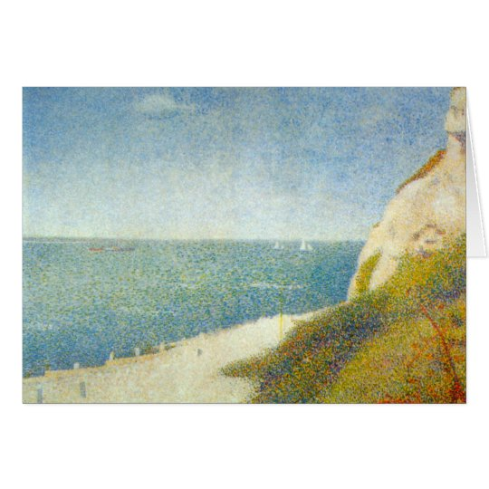 The Beach by Georges Seurat Card