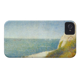 The Beach by Georges Seurat iPhone 4 Cases