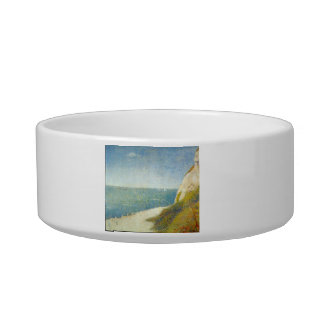 The Beach by Georges Seurat Cat Bowls