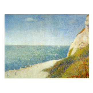 The Beach by Georges Seurat Postcard