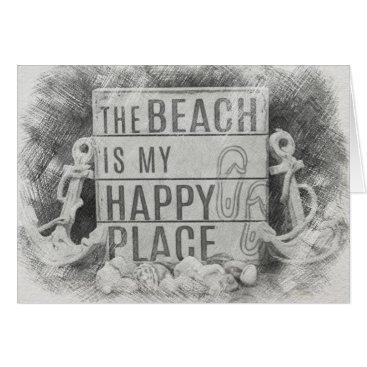 Hawaiian Themed The Beach Card
