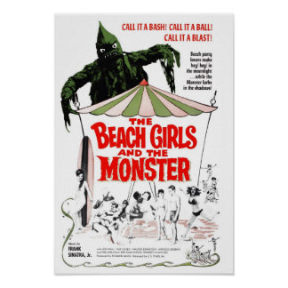 The Beach Girls & The Monster Poster