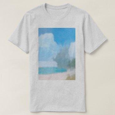 Beach Themed The beach (grey) T-Shirt