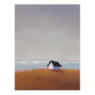 The Beach House - pretty seaside landscape art Postcard