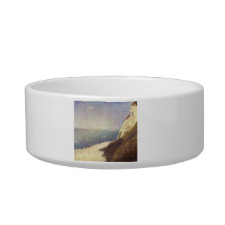 The beach in Honfleur by Georges Seurat Cat Bowl