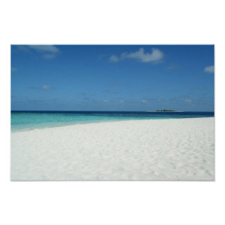 The Beach in Maldives Poster