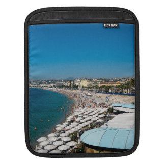 The beach in Nice, France iPad Sleeve
