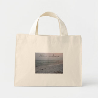 the beach is       ahhhh....   so relaxing mini tote bag