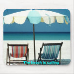 The beach is calling mouse pad
