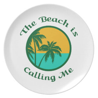 THE BEACH IS CALLING DINNER PLATE