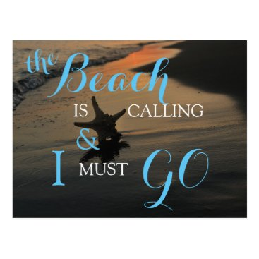 Beach Themed The Beach Is Calling Postcard