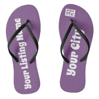 The beach is calling your name! flip flops
