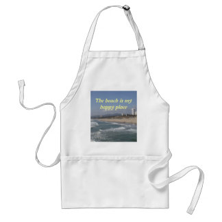 The beach is my happy place adult apron