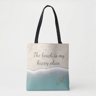 The Beach is my Happy Place-Beach Bag-Tote Tote Bag