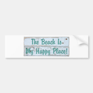 The Beach is My Happy Place Bumper Sticker