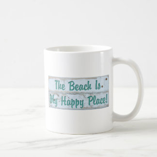 The Beach is My Happy Place Coffee Mug